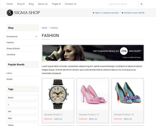 sigma multipurpose responsive shopify theme design