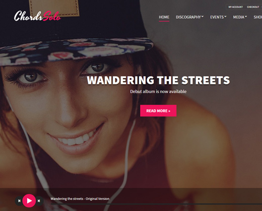 chords musical artist wordpress theme