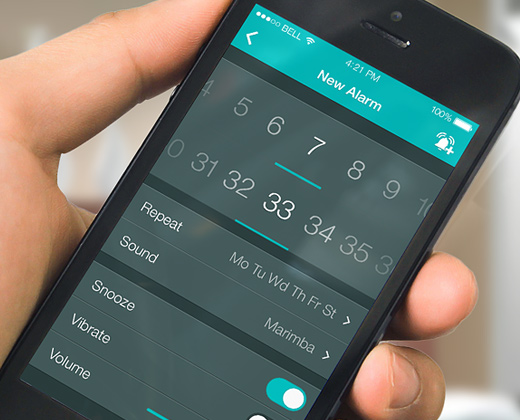 alarm dark settings iphone app ui