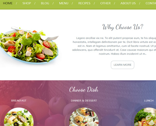premium food restaurant theme for wordpress