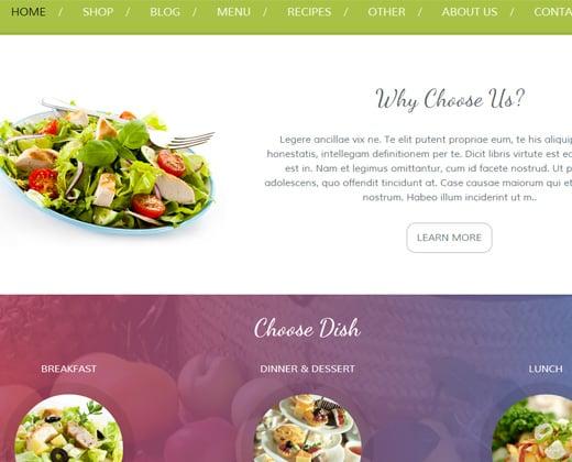 premium food restaurant theme for wordpress