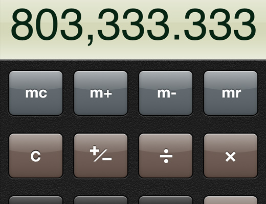 skeuomorphic design apple calculator iphone app ios6