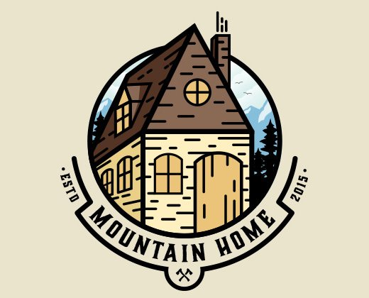 mountain home logo illustration