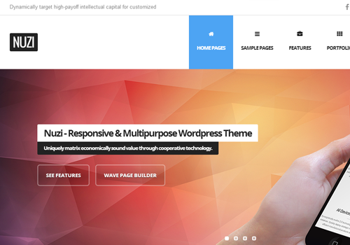 nuzi premium wordpress theme design