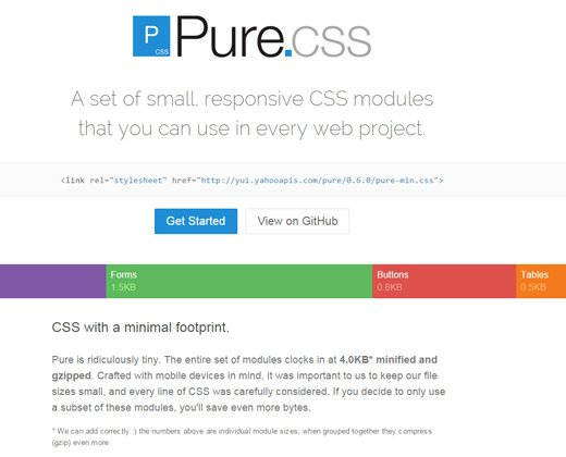 pure css open source library
