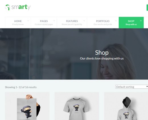 smarty portfolio shop wordpress theme premium