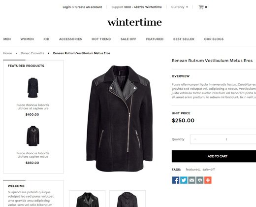 winter time shopify theme fashion
