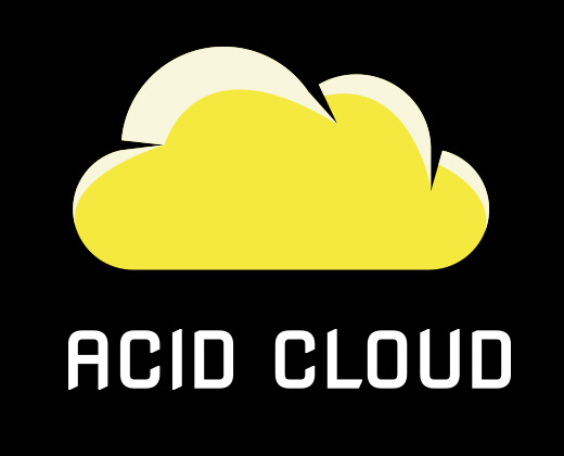 yellow illustration acid cloud logo