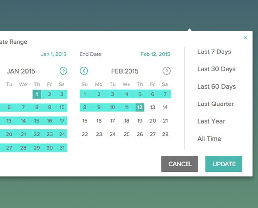 custom date range picker