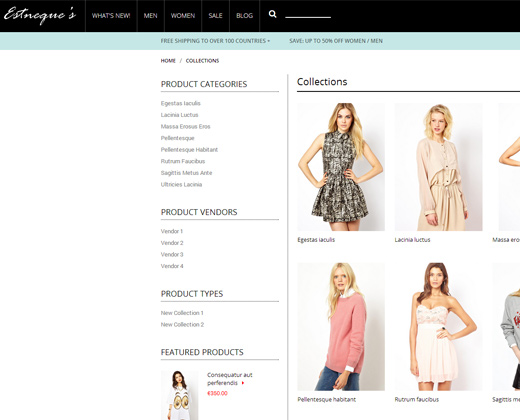 estneque clothes fashion shopify premium theme
