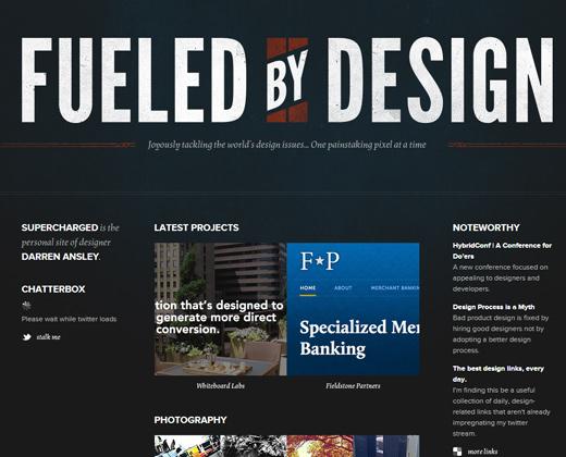 supercharged fueled by design dark portfolio