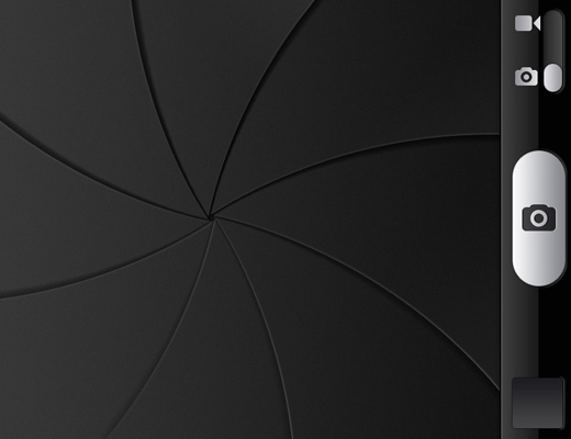 iphone ios6 camera shutter design ui interface