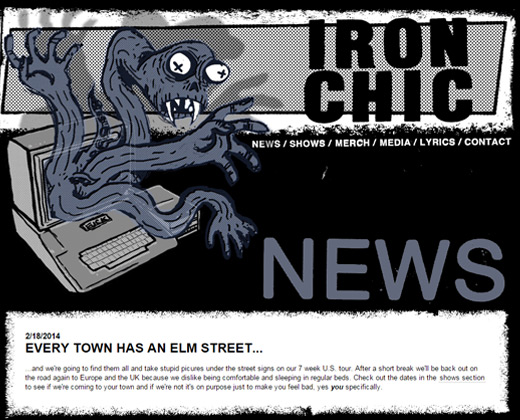 iron chic band website
