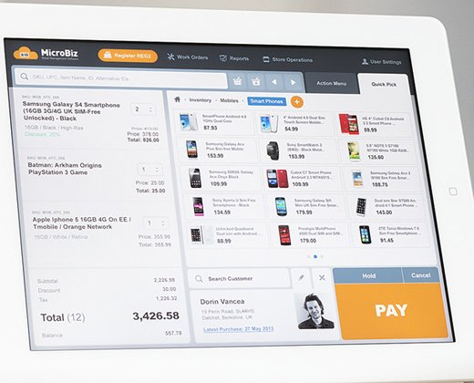 Tablet Point Of Sale App Ui