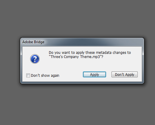 save changes bridge metadata editing