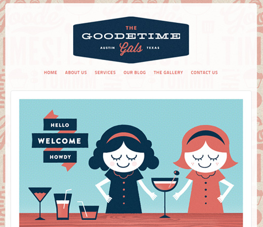 the goodetime gals vector design website
