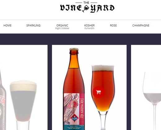 wine store responsive woocommerce theme