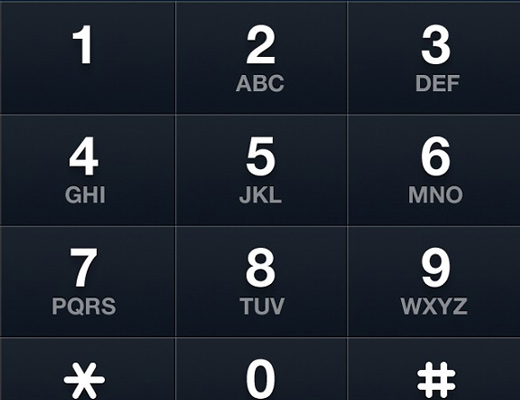 ios5 iphone app phone keypad numbers skeuomorph