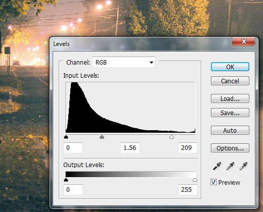 photoshop cs3 adjustment levels dialog