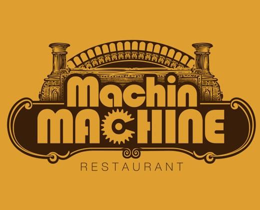 machin machine restaurant logo