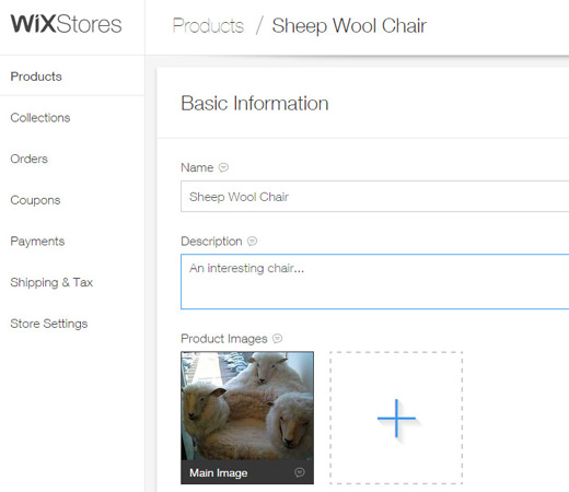 add new product wixstore