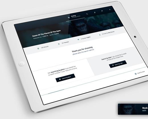 ticket booking app tablet