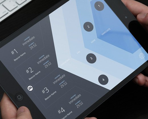 tablet radar app ui