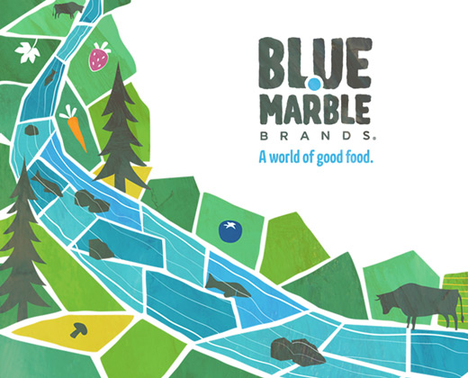 blue marble brands illustration