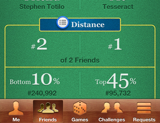 ios6 game center ui iphone app skeuomorphism