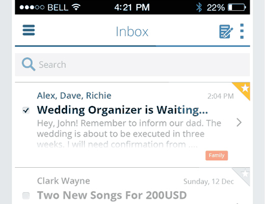 ios7 email iphone app ui design tutorial