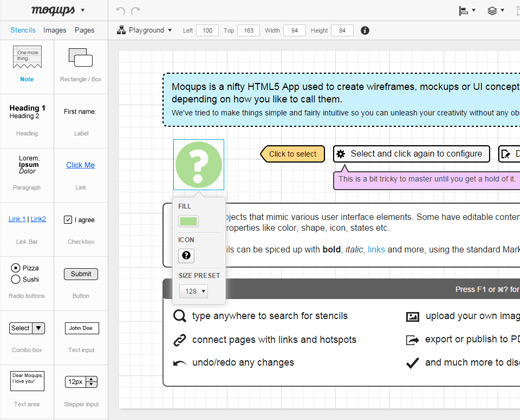 webapp moqups wireframe tool