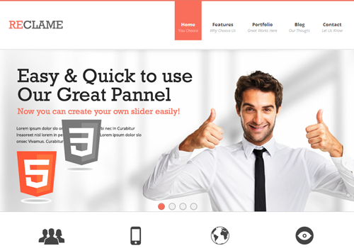 html5 wordpress premium theme template