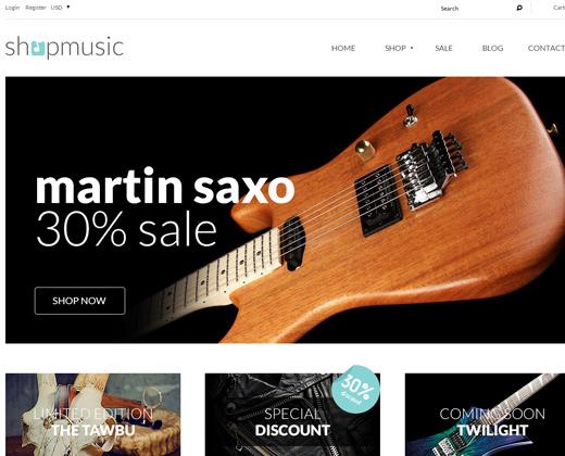 shop music theme premium responsive webshop