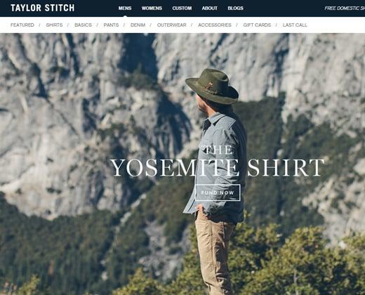 taylor stitch website shopify theme