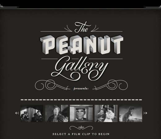 peanut gallery films retro website