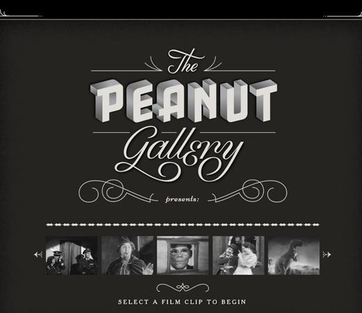 peanut gallery films retro website