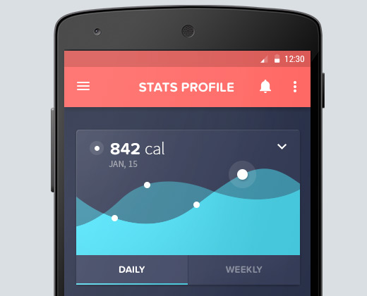 Tracking Dashboard Android Mobile