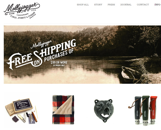 mollyjogger website retro shopify design
