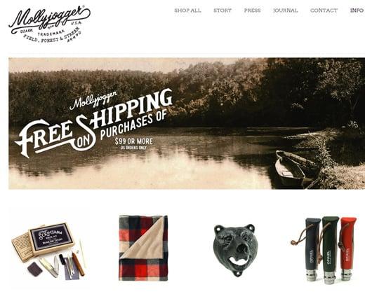 mollyjogger website retro shopify design