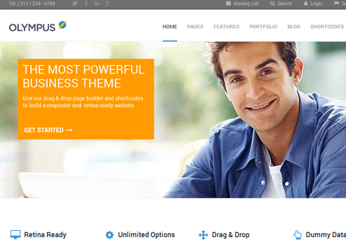 responsive olympus wordpress theme template