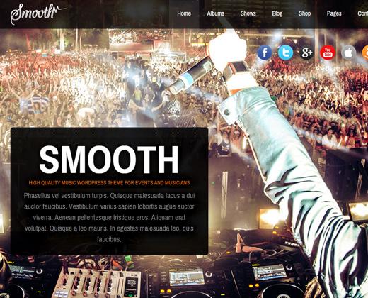 smooth responsive fullscreen wordpress theme