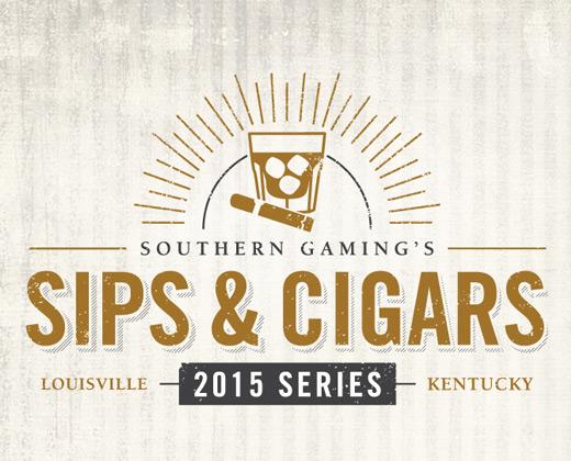 sips and cigars logo illustration