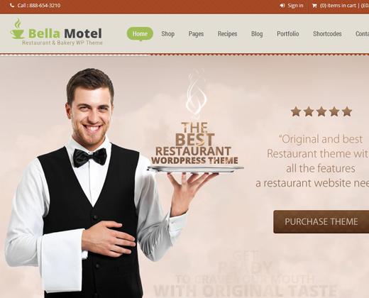 bella motel restaurant bakery wordpress