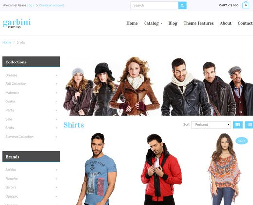 garbini responsive shopify clothes theme