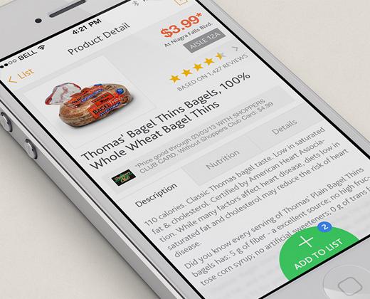 supermarket app ui concept