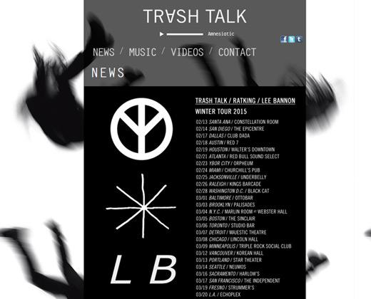 trash talk band website