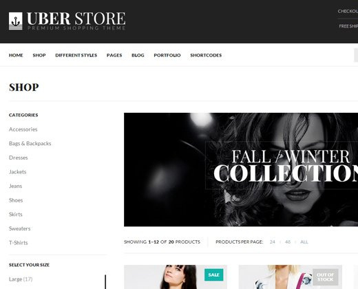 uberstore multi purpose woocommerce theme responsive retina