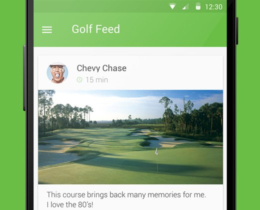 android material golf app ui