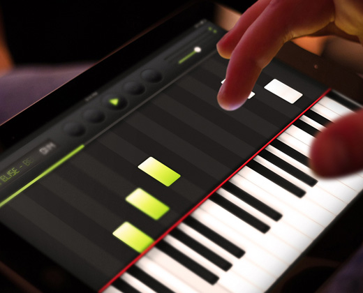 ipad piano player app ui