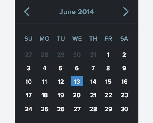 28 Datepickers for Website UI and Mobile Apps